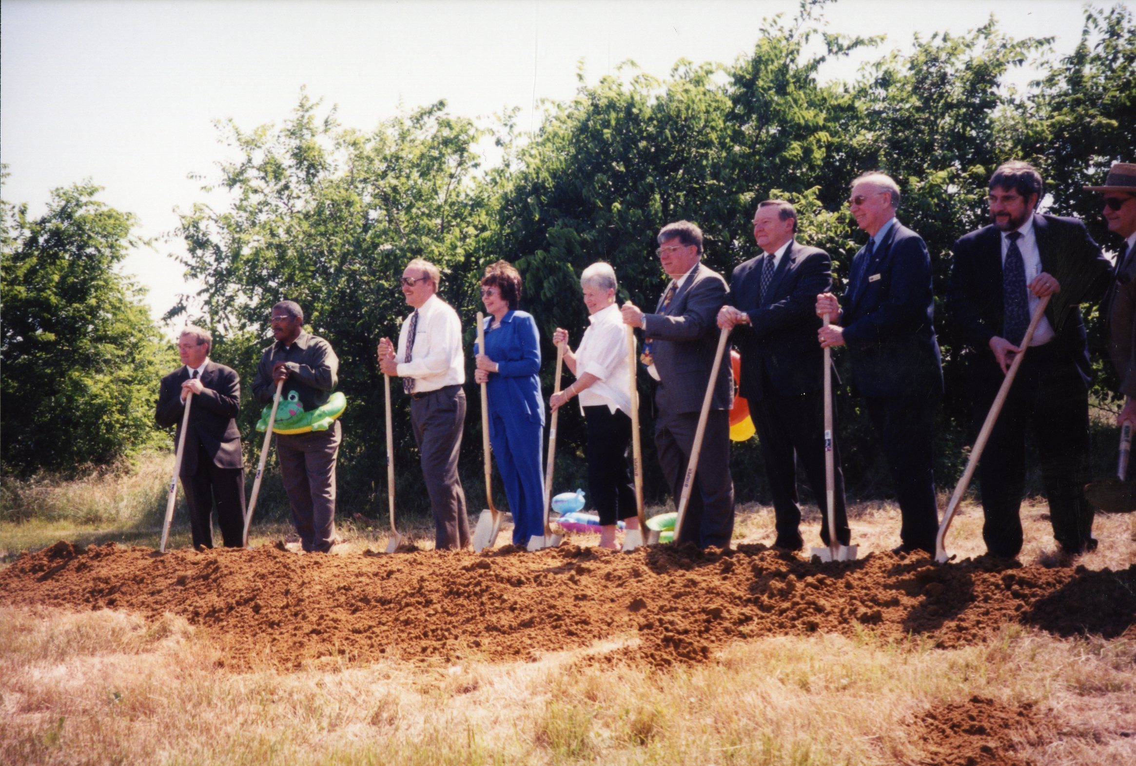 Groundbreaking ceremony for Water Works Park.