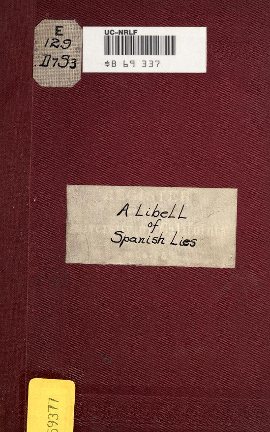 A libell of Spanish lies by Savile, Henry Capt.