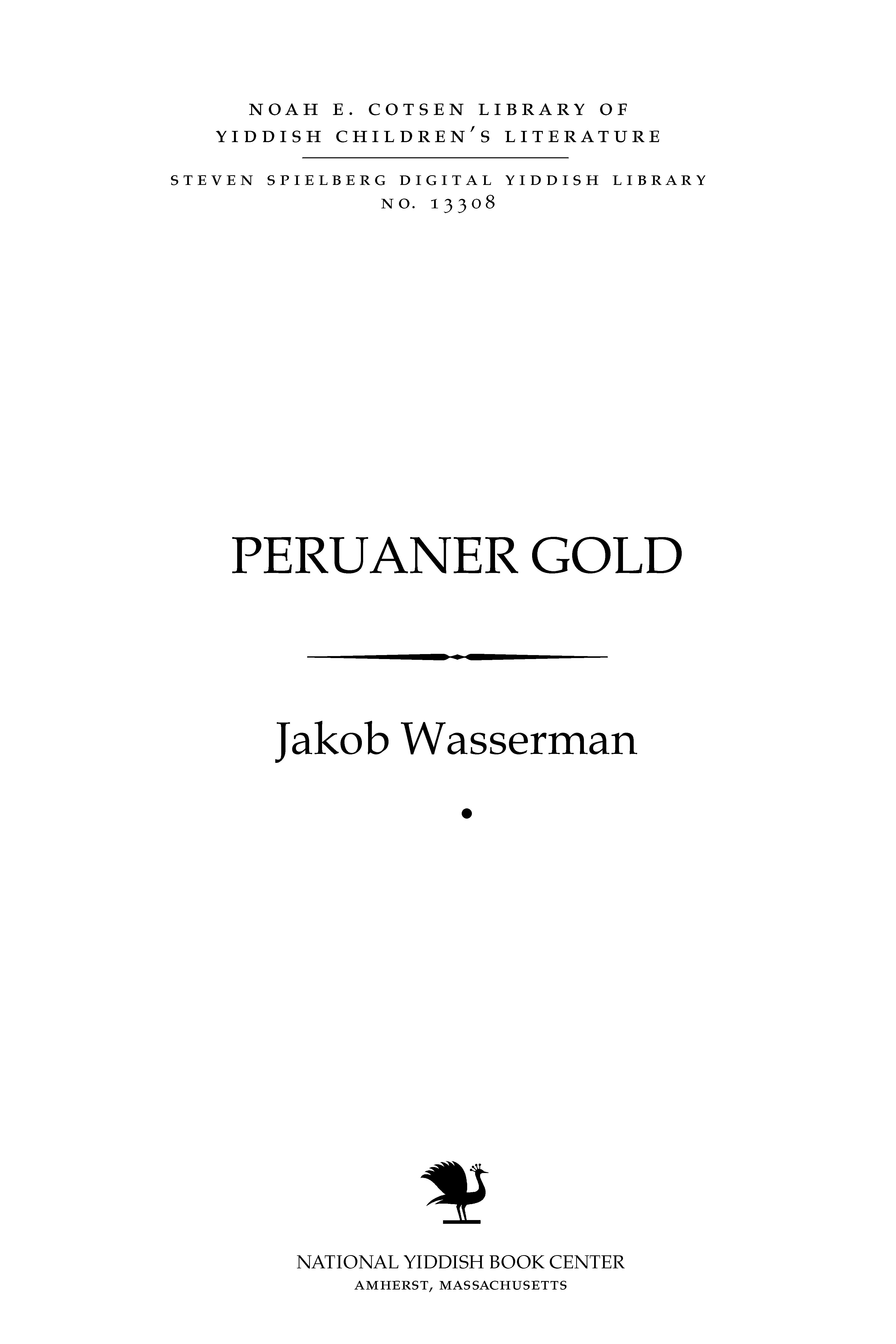 Cover of: Peruaner gold